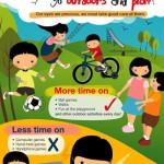 シンガポールの外遊び啓発ポスター